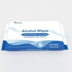 20 Pieces 70% Alcohol Sanitizer Wipes